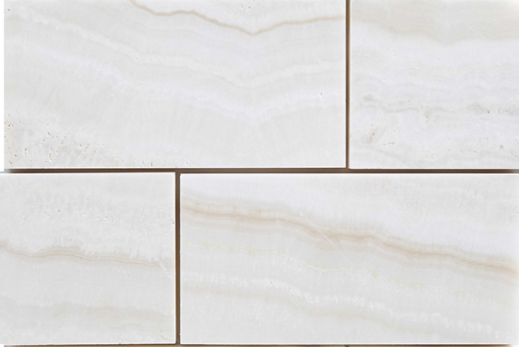 White Onyx Tile Polished