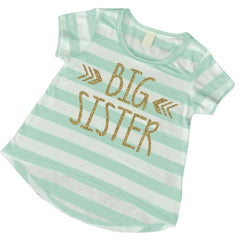 Big Sister Shirt Sibling Big Sister T-Shirt Little Sister Shirts Big Sister Announcement Shirt Pregnancy New Baby T-Shirt Photo Prop 015 - Bump and Beyond Designs