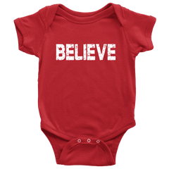 First Christmas Onesie for Boys and Girls, Believe Shirt - Bump and Beyond Designs