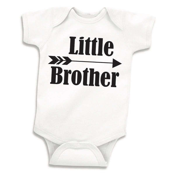 Little Brother Shirt Sibling Shirt Little Brother Bodysuit Little Brother Baby Announcement Shirt Hipster Boy Clothes 108 - Bump and Beyond Designs