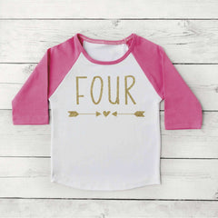 4th Birthday Shirt Girl Fourth Birthday Outfit Girl Clothes Fourth Birthday Girl Four Year Old Shirt 133 - Bump and Beyond Designs