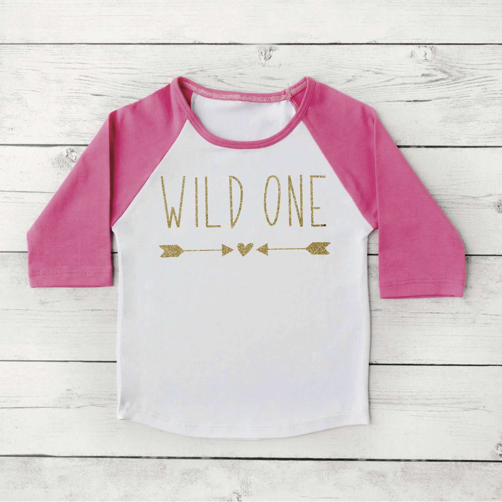Wild One Shirt Girl First Birthday Baby Clothes 1st