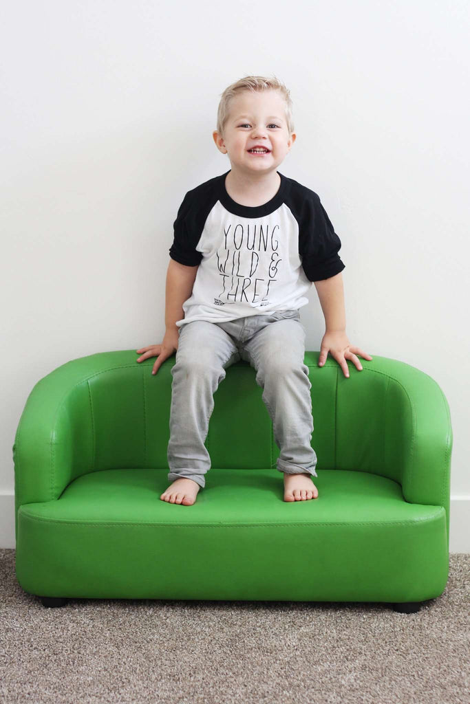 Young Wild And Three Shirt Boy Third Birthday 3 Year Old Trendy Kids Clothes