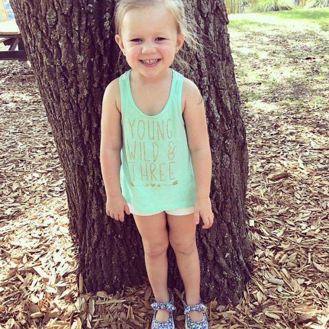 3rd Birthday Tank Top, Young Wild & Three - Bump and Beyond Designs
