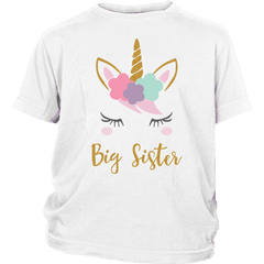 Youth Unicorn Big Sister Shirt