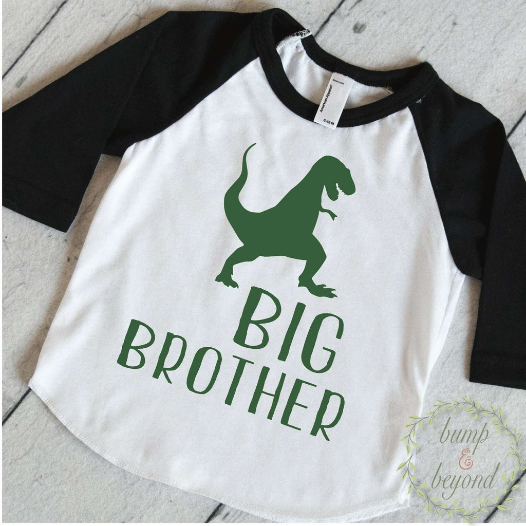 Big Brother Shirt, Dinosaur Big Brother Shirt, Sibling Shirts, Dino Big Brother Little Brother Outfits T-Rex Big Brother Gift 319 - Bump and Beyond Designs