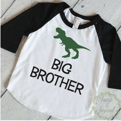 Dinosaur Shirt, Big Brother Shirt, T-Rex Big Brother Shirt, Boy Sibling Shirts, Dino Big Brother Outfit Dinosaur Big Brother Gift 321 - Bump and Beyond Designs