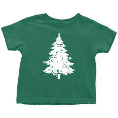 Kids Christmas Shirt, Distressed Vintage Kids Christmas Tree T-Shirt