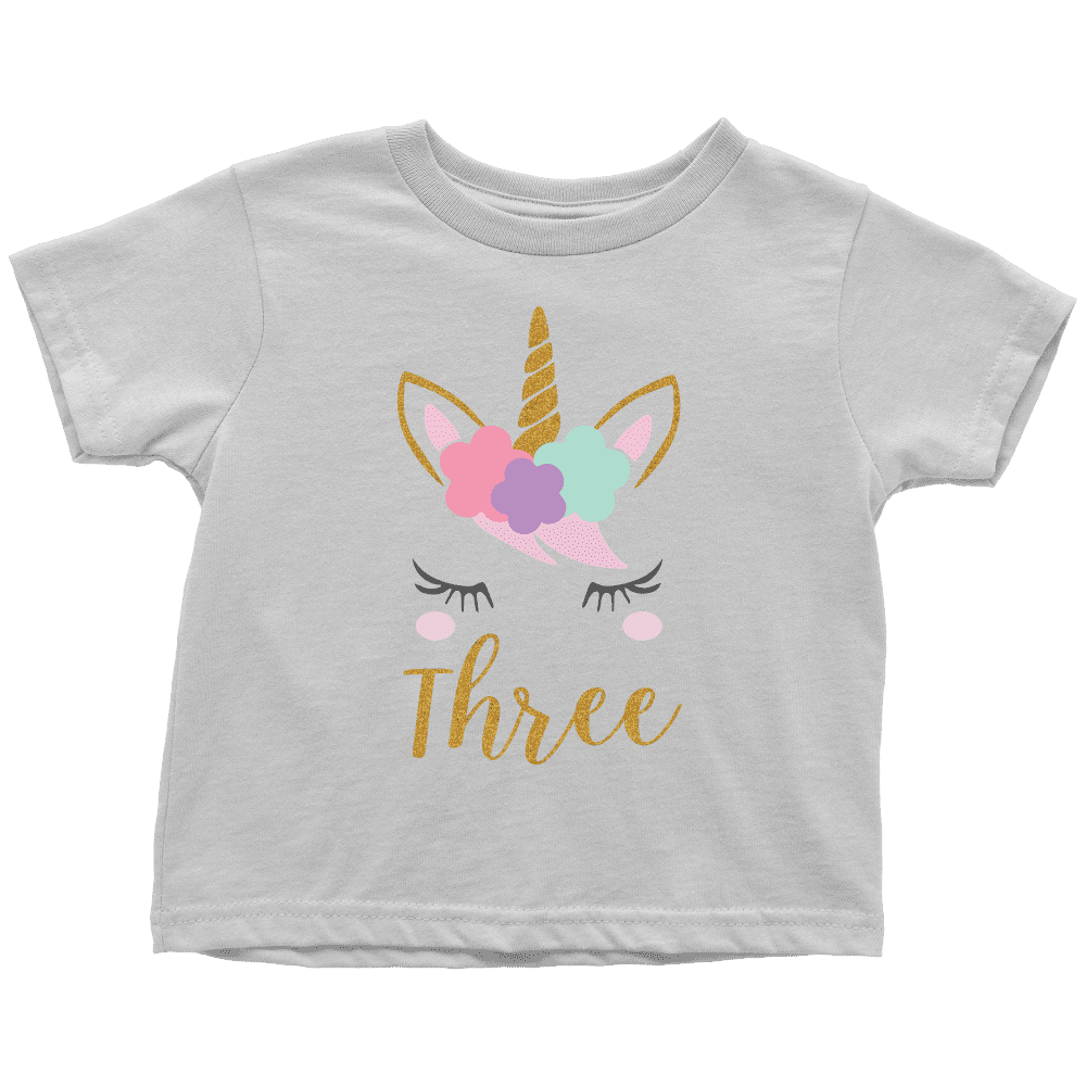 Third Birthday Girl Shirt, Unicorn 3rd Birthday Outfit