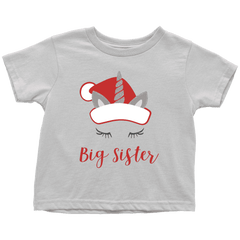 Christmas Big Sister Unicorn Shirt - Bump and Beyond Designs