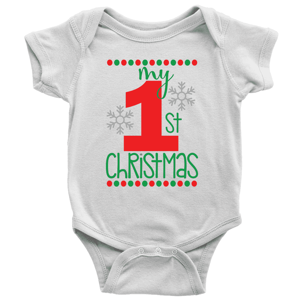 My First Christmas Onesie for Boys and Girls - Bump and Beyond Designs