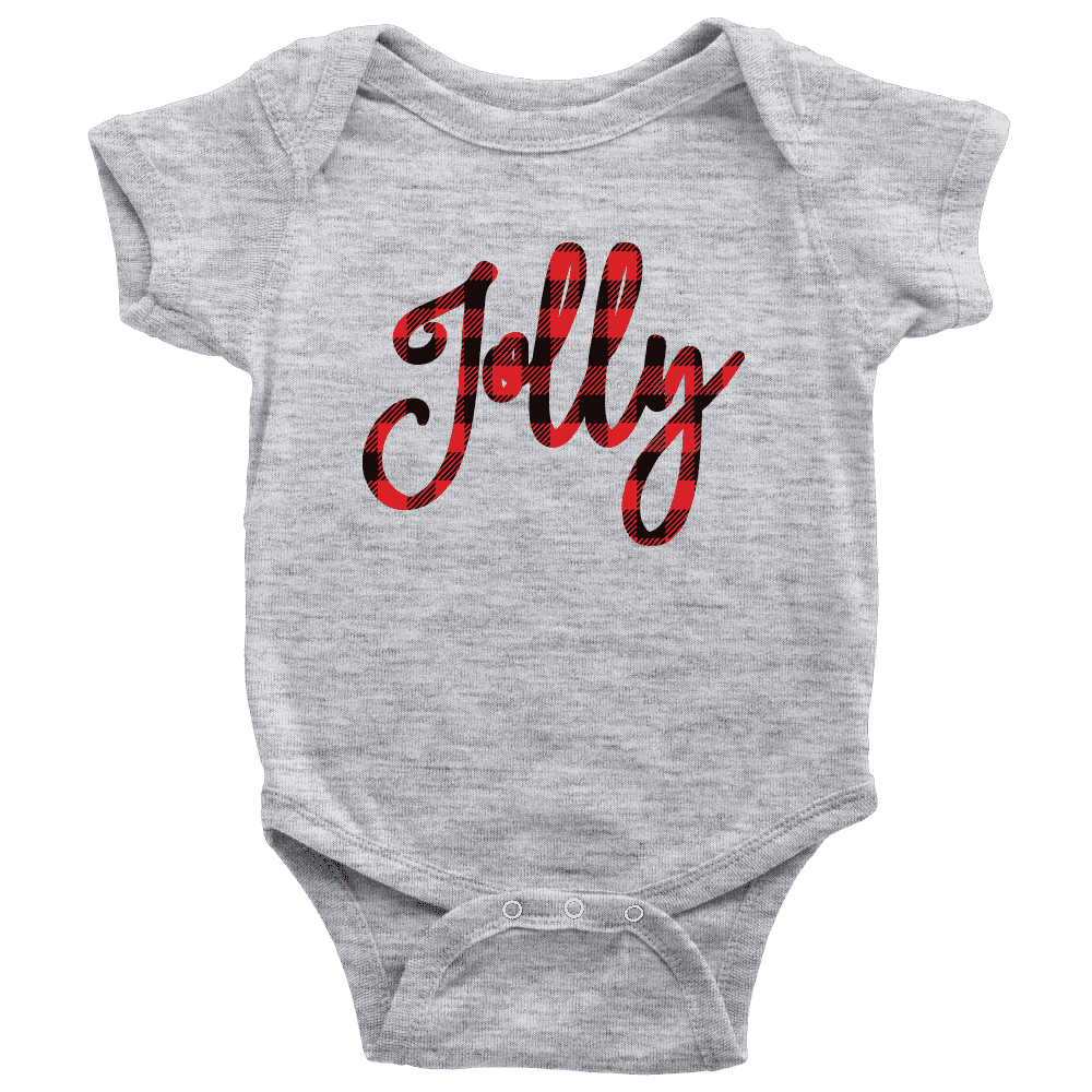 Jolly Onesie, First Christmas Shirt for Baby Boys and Girls