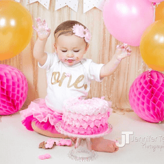 1st Birthday Baby Girl Bodysuit - Bump and Beyond Designs