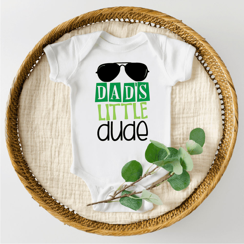 Dad's Little Dude First Father's Day Bodysuit, Father's Day Gift for Daddy