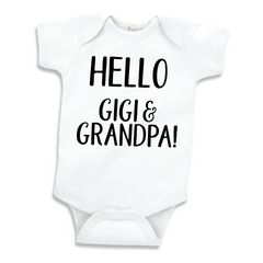 Hello Gigi and Grandpa, Pregnancy Announcement Bodysuit