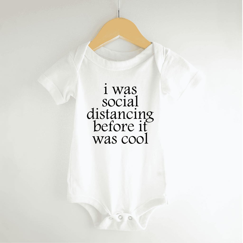Baby Funny Social Distancing Bodysuit