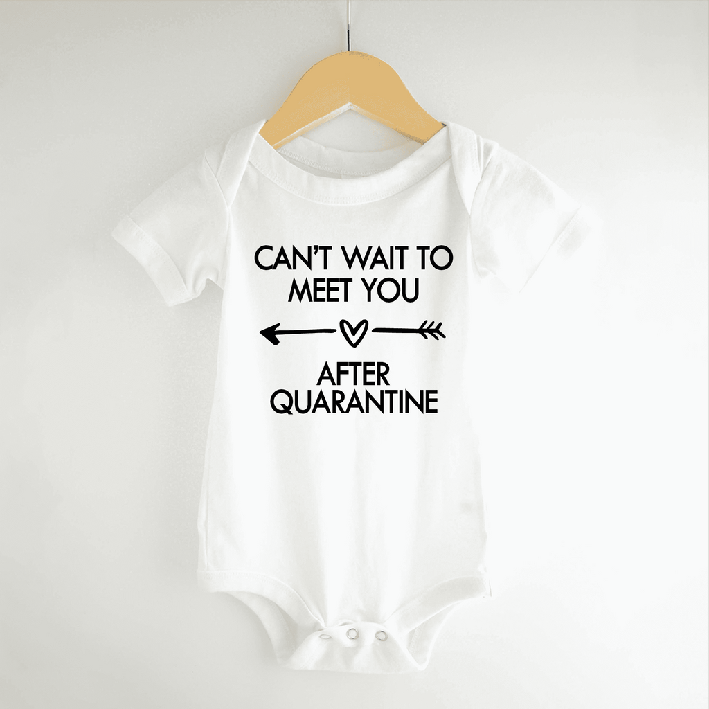 Can't Wait to Meet You Quarantine Pregnancy Announcement