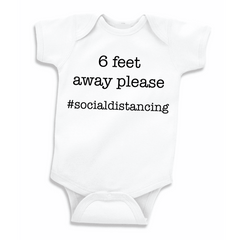Social Distancing Baby Bodysuit for Boys and Girls