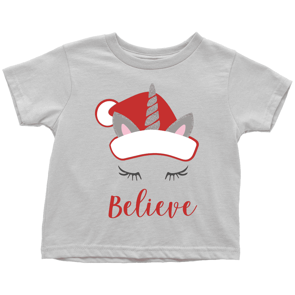 Kids Christmas Shirt, Unicorn Christmas T-Shirt for Girls - Bump and Beyond Designs