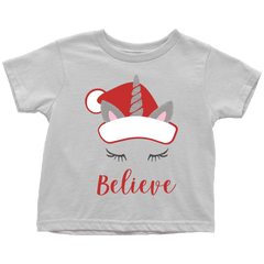 Kids Christmas Shirt, Unicorn Christmas T-Shirt for Girls