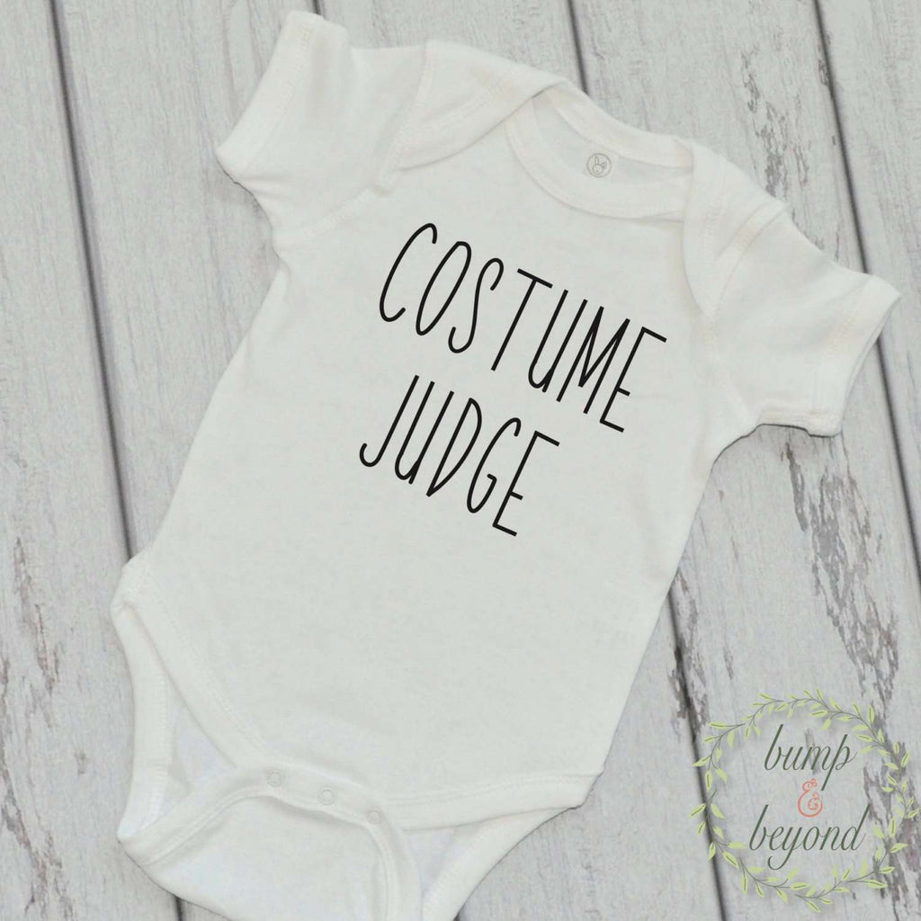 Baby Halloween Costume Judge First Halloween Outfit Baby Halloween Outfit My First Halloween Shirt Ghost Shirt Baby Halloween Shirt 005 - Bump and Beyond Designs