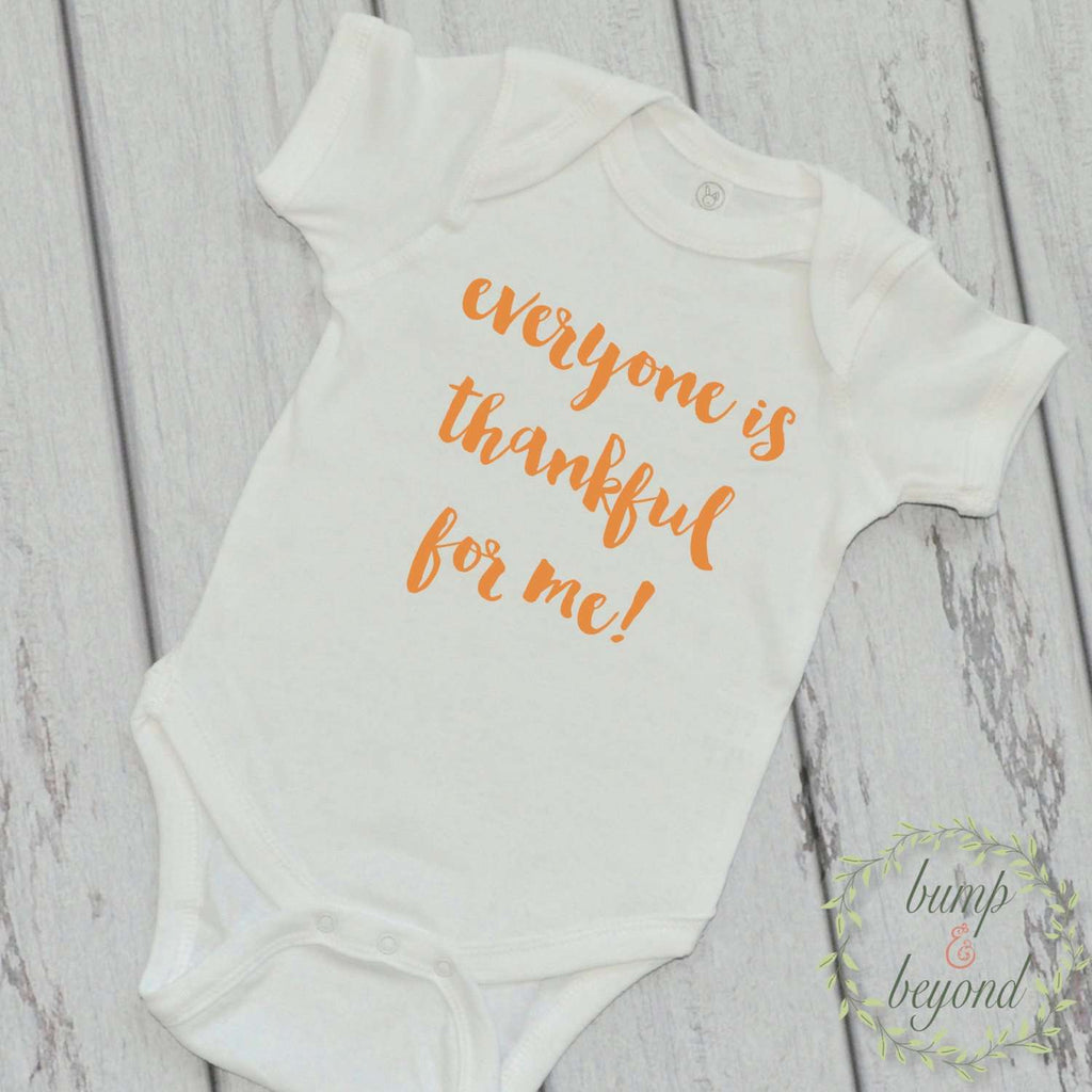 Newborn Thanksgiving Outfit Everyone is Thankful for Me Baby Thanksgiving Outfit Baby Girl Thanksgiving Outfit Baby's First Thanksgiving 001 - Bump and Beyond Designs