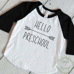 Back to School Outfit, First Day of Preschool Shirt, Hello Preschool, Boys Back to School Outfit, 1st Day of Preschool Outfit 260 - Bump and Beyond Designs