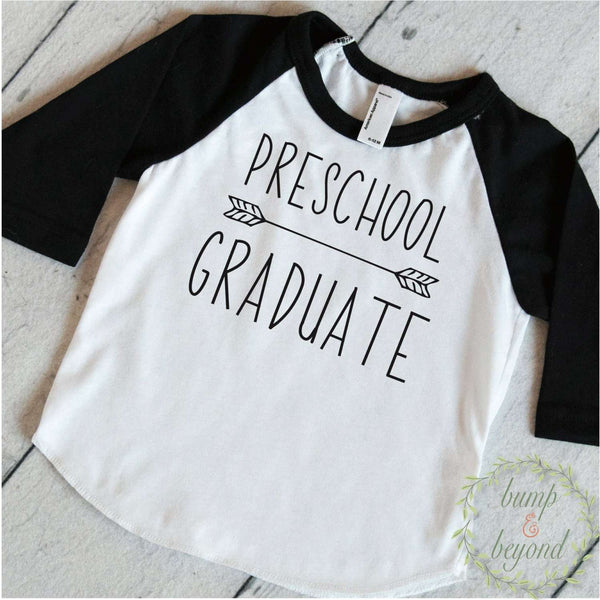Preschool Graduation Shirt Preschool Graduate Shirt Boy Last Day of Preschool Graduation Announcement Graduation Gift 189