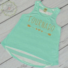 Fournado 4th Birthday Shirt Girl 4th Birthday Shirt Four Shirt Girl's Birthday Shirs Trendy Kids Clothes Birthday Tank Top 215 - Bump and Beyond Designs
