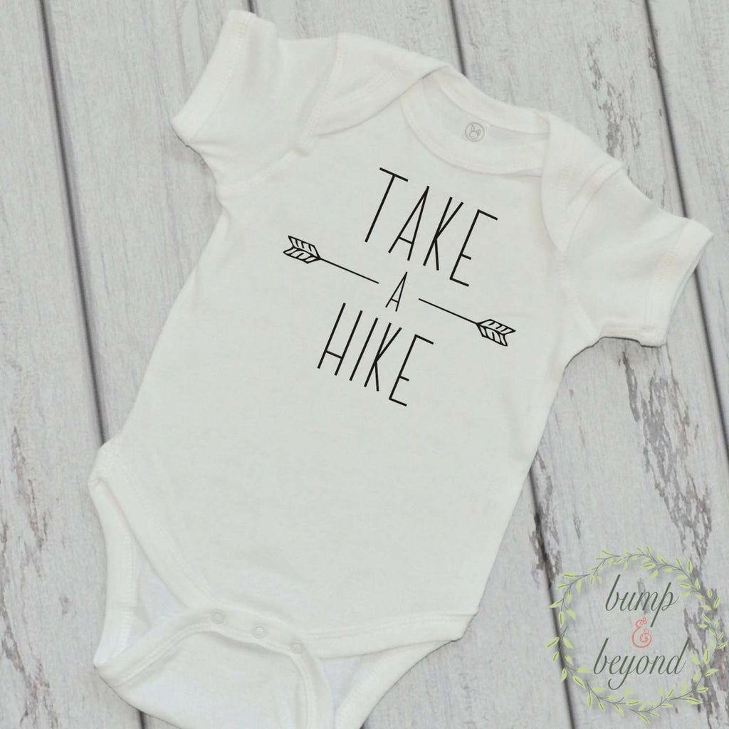 Take a Hike Bodysuit Baby Boy Gift Outdoor Baby Gift Take a Hike Shirt Trendy Baby Clothes 225 - Bump and Beyond Designs