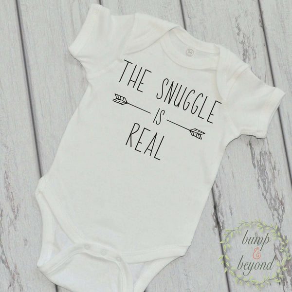 The Snuggle is Real Shirt Stylish Baby Clothes Funny Baby