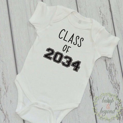 Class of 2034 Unique Baby Clothes Infant One Piece Baby Graduation Year Bodysuit Baby Grad Shirt School Class Shirt Funny Baby Clothes 228 - Bump and Beyond Designs