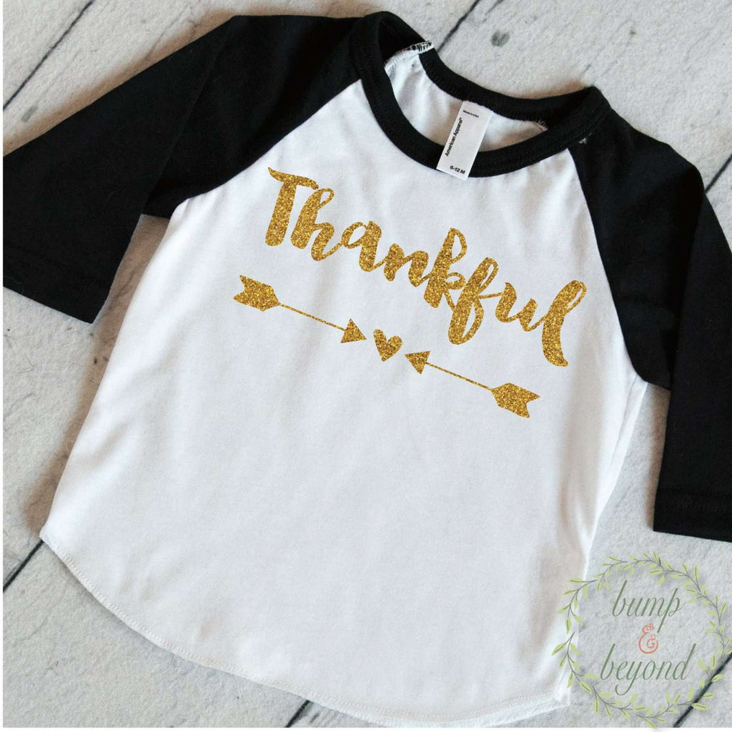 Kids Thanksgiving Shirt Toddler Girl Thanksgiving Outfit Thankful Shirt Thanksgiving Clothes for Kids Children's Thanksgiving Shirt 009 - Bump and Beyond Designs