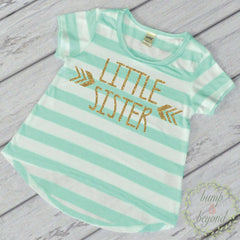Little Sister Shirt Matching Sibling Shirts Little Sister T-Shirt Little Sister Shirts Pregnancy Announcement Baby Girl Photo Prop 016 - Bump and Beyond Designs