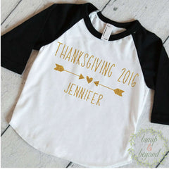 Girls Thanksgiving Shirt, Thanksgiving Outfit Girl, Girls Fall Outfits, First Thanksgiving Shirt Personalized Toddler Thanksgiving Outfit 14 - Bump and Beyond Designs
