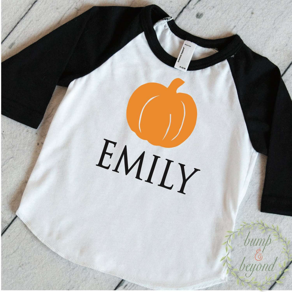 Halloween Outfit Baby Girl, Boy Halloween Outfit, Personalized Halloween Outfit, Halloween Shirt for Boys, Kids Halloween Shirt 022 - Bump and Beyond Designs