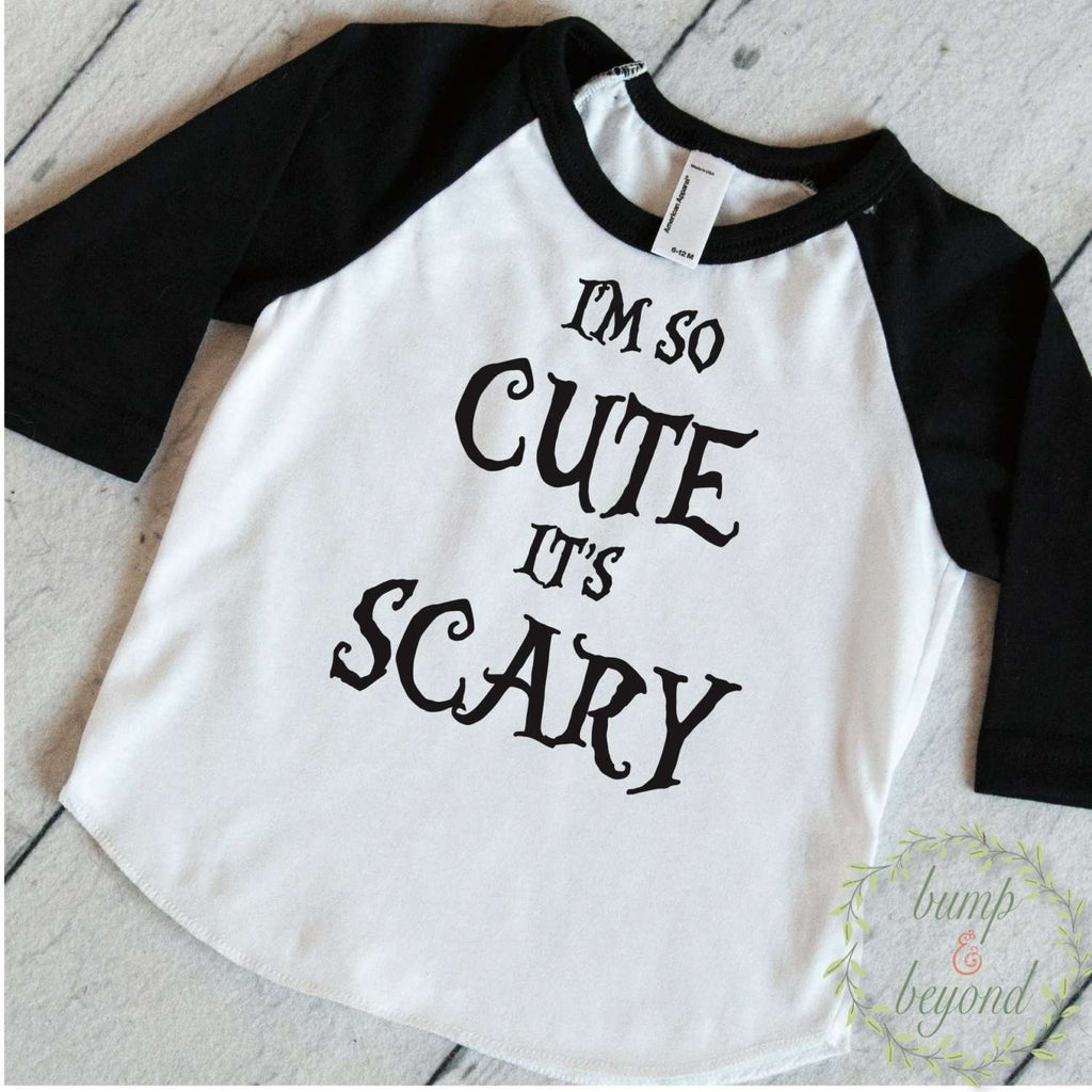 Toddler Halloween Shirt, Boy Halloween Outfit, Girl Halloween Shirt, I'm So Cute it's Scary, Halloween Outfits for Girls, Kids Halloween 023 - Bump and Beyond Designs
