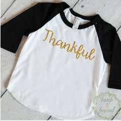 Baby Girl Thanksgiving Outfit, Thanksgiving Shirt Toddler, Kids Thanksgiving Shirts, Thankful Shirt, Baby First Thanksgiving Outfit 033 - Bump and Beyond Designs