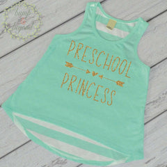 First Day of School Shirt Preschool Princess Shirt 1st Day of School Outfit Preschool Tank Top Back to School Shirt Pre School Shirt 236 - Bump and Beyond Designs