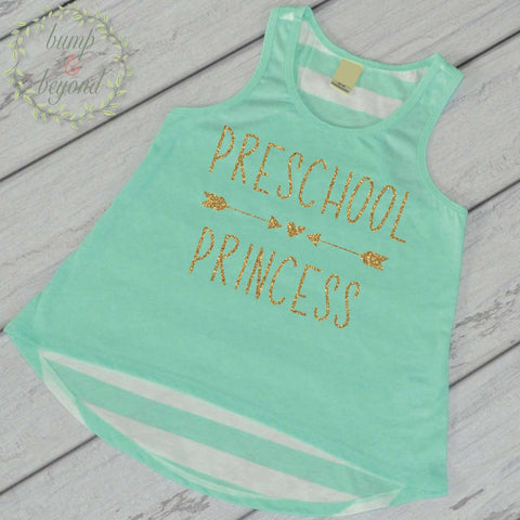 First Day of School Shirt Preschool Princess Shirt 1st Day of School Outfit Preschool Tank Top Back to School Shirt 236 - Bump and Beyond Designs