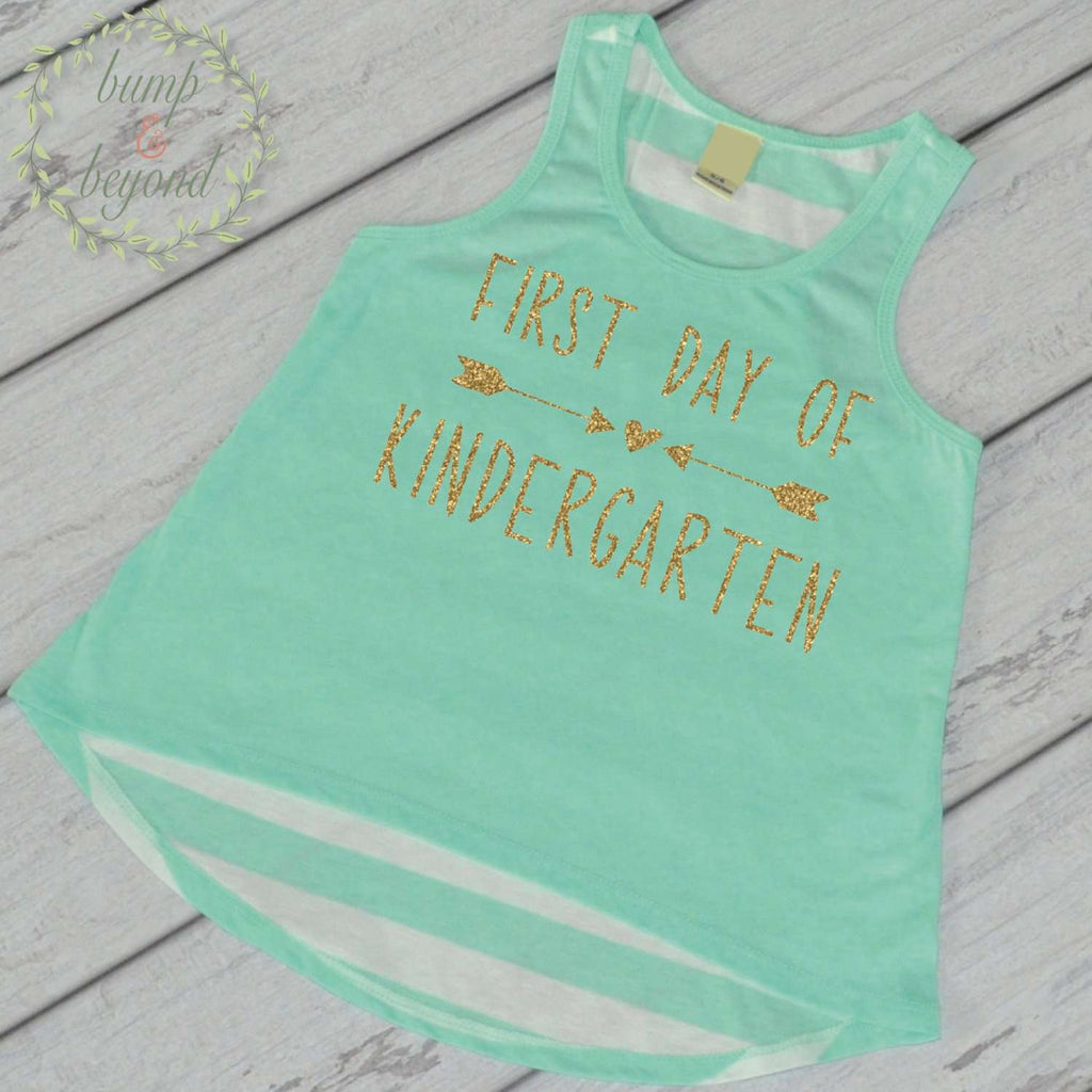 First Day of Kindergarten Shirt Back to School Shirt 1st Day of School Outfit Kindergarten Tank Top My First Day of School Shirt 239 - Bump and Beyond Designs