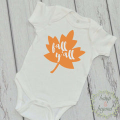 Fall Y'All Shirt Baby's First Fall Pumpkin Patch Outfit Fall Yall Halloween Outfit Girl or Boy Halloween Shirt 008 - Bump and Beyond Designs