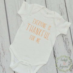 Baby's First Thanksgiving Newborn Thanksgiving Outfit Everyone is Thankful for Me Baby Thanksgiving Outfit Baby Boy Thanksgiving Outfit  006 - Bump and Beyond Designs