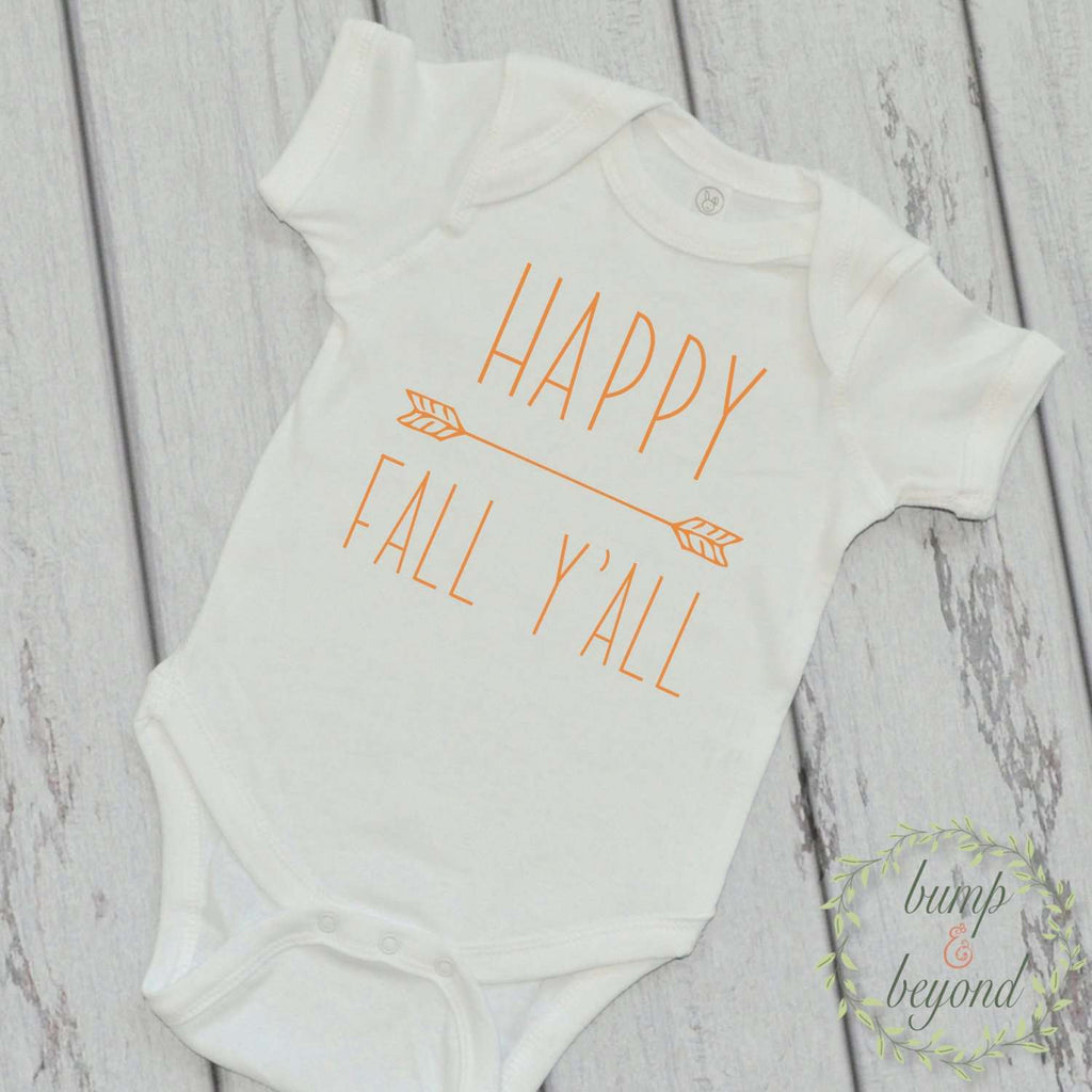My First Fall Happy Fall Y'All Thanksgiving Outfit for Baby Pumpkin Patch Outfit My First Thanksgiving Babys 1st Halloween Outfit 007 - Bump and Beyond Designs