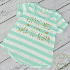 First Day of Preschool Shirt, Kindergarten Shirt, Little Miss Back to School Outfit, Girl Preschool Outfit, Kindergarten Outfit 255 - Bump and Beyond Designs