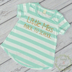 First Day of School Shirt, Kindergarten Outfit, Preschool Outfit, Little Miss Back to School, Girl Preschool Shirt, Kindergarten Shirt 256 - Bump and Beyond Designs