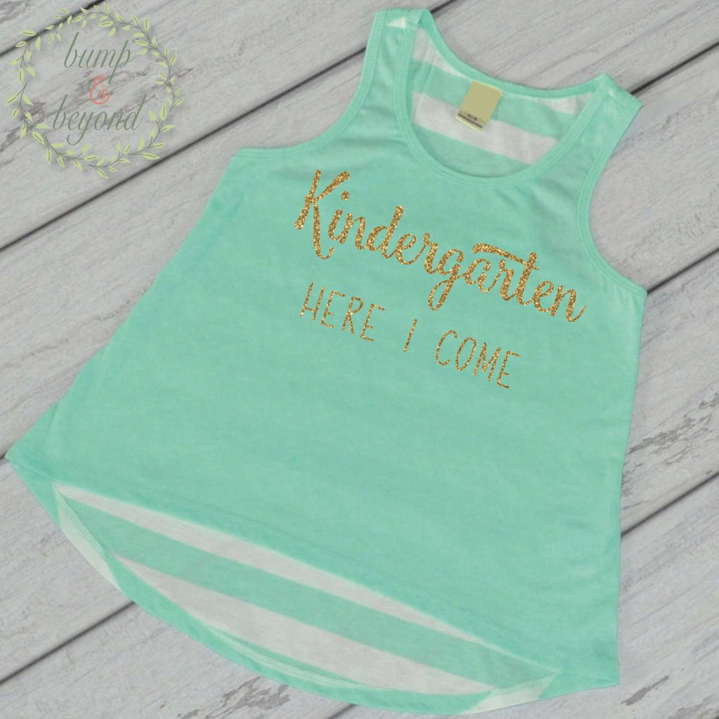 Kindergarten Shirt, Back to School Outfit, 1st Day of Kindergarten Outfit Girls Back to School Shirt First Day of Kindergarten 229