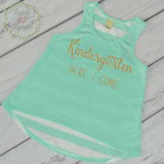 Kindergarten Shirt, Back to School Outfit, 1st Day of Kindergarten Outfit Girls Back to School Shirt First Day of Kindergarten 229 - Bump and Beyond Designs