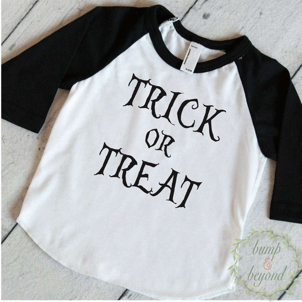 Kids Halloween Shirt Toddler Boy Halloween Outfit Trick or Treat Halloween Clothes for Kids Children's Halloween Shirt 012 - Bump and Beyond Designs