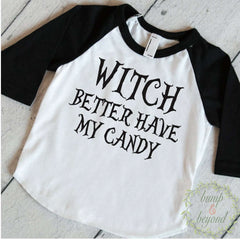 Toddler Halloween Shirt, Witch Better Have My Candy, Kids Halloween Shirt, Halloween Shirt for Boys, Toddler Halloween Outfit 014 - Bump and Beyond Designs